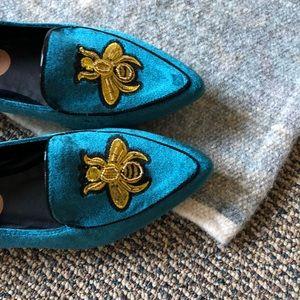 Madden Girl Velvet Loafers